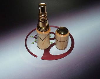 Refillable perfume sprayer, atomizer thorn wood and inlay wood - gift women - gift for her