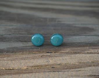 Green Haze Polymer Clay Earrings