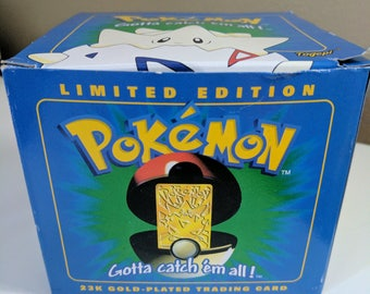 Limited Edition 23k Gold-Plated Pokemon Trading Card- Togepi