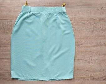Pastel green pencil skirt