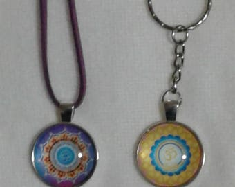 Namaste necklace and keychain