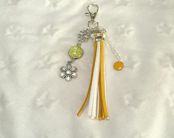 """bag cabochon """"a gem for always"""" yellow and white"""