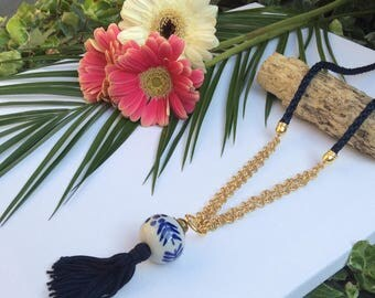 "Porcelain and Pompom ""In the Medina"" woman necklace"