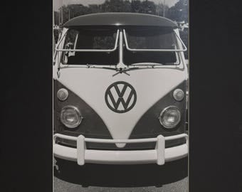 VW Bus, Silver Gelatin Print Matted Fits 16 x 20 Frame