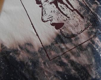 Acid Wash XL T-shirt ScreenPrint Hand Made
