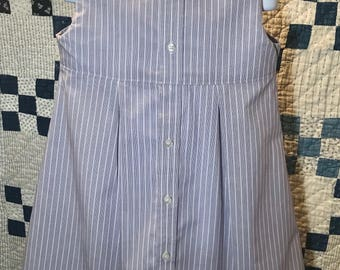 Purple and white striped dress size 6T