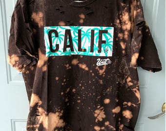 Bleached and Ripped Distressed California Shirt