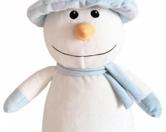 Personalized stuffed snowman