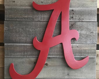 Mounted Alabama 'A' Football Sign