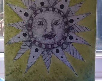 Unique hand drawn sketch - sun