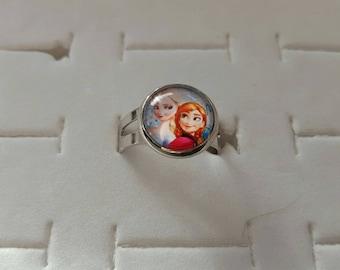 """ring child fantasy """"snow Queen"""" adjustable silver metal"""