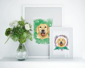 Labrador Personalized Dog Art Prints | Two For The Price of One | Free Shipping USA