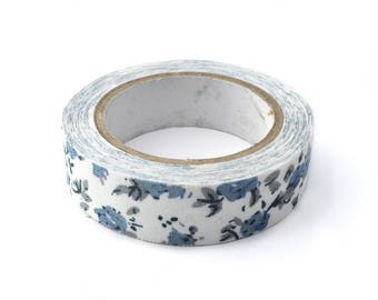White floral fabric tape 4mx15mm masking