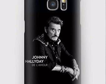 Case for Samsung S5, S6, S6 +, S7, S7 +, S8, S8 +, A3, A5, J3, GP, Note 4,5, 8 love Johnny Hallyday