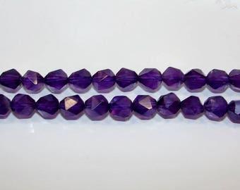 Amethyst ball 10.00 faceted 20 mm. (A) gemstone.