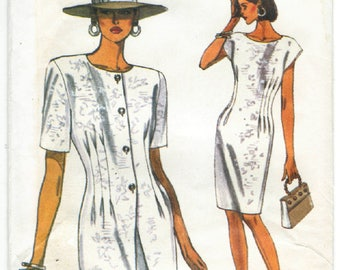 8090 Very Easy Very Vogue - Misses Jacket & Dress - UNCUT Sewing pattern Sz. 6-8-10 - vintage 1991