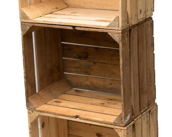 Mart wine crate crate nature SHABBY 50 cm 3 SET vintage stable and cleaned