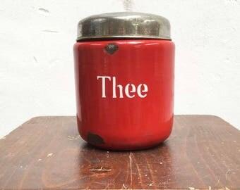 Enamel red tea bus