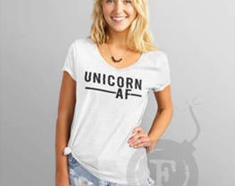UNICORN AF, Unicorn AF V-Neck Tee