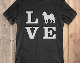 Alaskan Malamute Dog T-Shirt Gift: I Love Alaskan Malamute