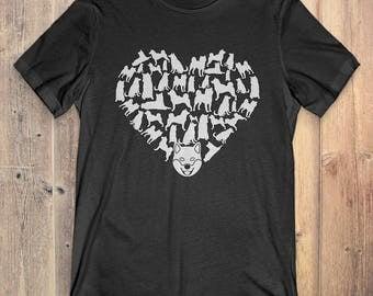 Shiba Inu T-Shirt Gift: Heart Shiba Inu