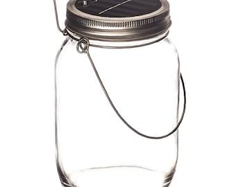 LED solar glass by Trendario ideal as a lantern, solar lamp, solar Sun Jar, balcony or garden, Garden lamp table lamp