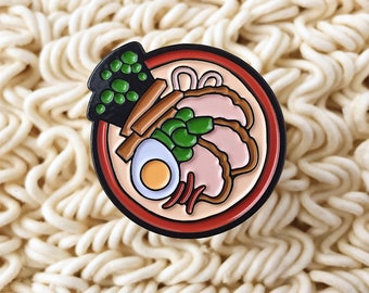 Tonkotsu Ramen Enamel Pin – Japanese Food – Noodles – Lapel Pin –