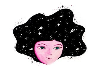I am the Cosmos, art print