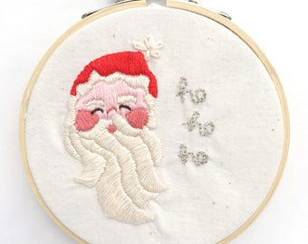 Mini Santa Claus Holiday Embroidery PDF Pattern for ornaments and Gifts under 20