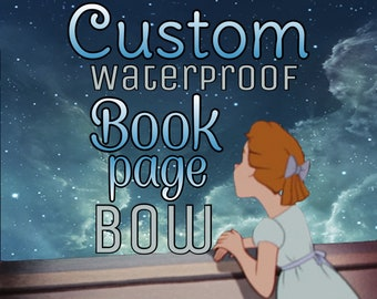 Custom Waterproof Book Page Bow Listing
