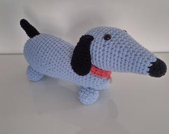 DOG Dachshund - plush toy - crochet