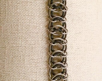Stainless Steel Centipede Weave Bracelet