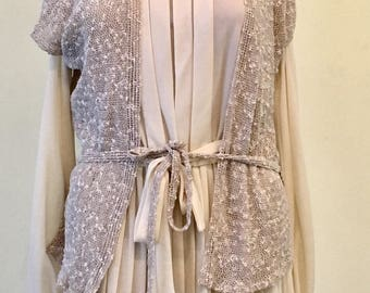 1970s Montgomery Ward Cream Dress