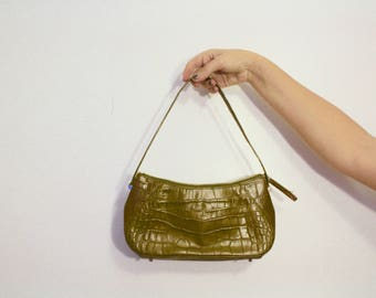 Monsac Original Green Alligator Purse