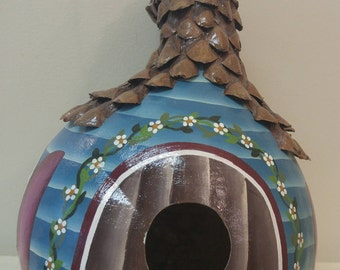 Quirky Shaped Gourd Birdhouse