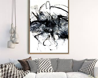 Black Abstract Art, Abstract Print, Black And White Art Print, Minimalist Poster, Giclee Print, Home Decor, Wall Decor, Wall Art
