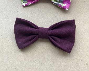 Bows 2 pack in Purple