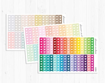 Heart Flag checklist stickers/label/planner stickers /ECLP/erincondren life planner/multicolor functional/rainbow/pastel/neutral