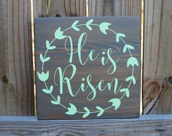 Easter sign-easter wood decor-christian wood sign-christian decor-christian wood art-wood sign-wood wall art-wood decor-rustic wood decor