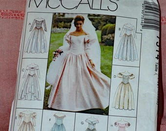 McCall's uncut Wedding Dress suitable for Bridesmaid, Mother of the Bride or Prom size 18, 20, 22
