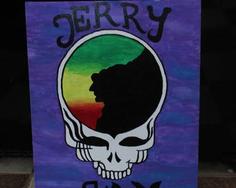 Grateful Dead Steal Your Face Jerry Jam Painting