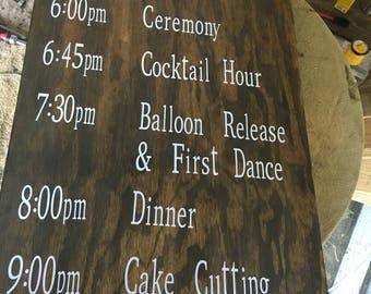 Wedding Details Sign