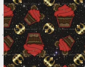 Ewok Cupcakes on shimmering star seamless digital image - fabric - scrapbook paper - gift wrap - 300 DPI - High Resolution