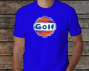 GOLF t-shirt tee tshirt gas volkswagen vintage vw car