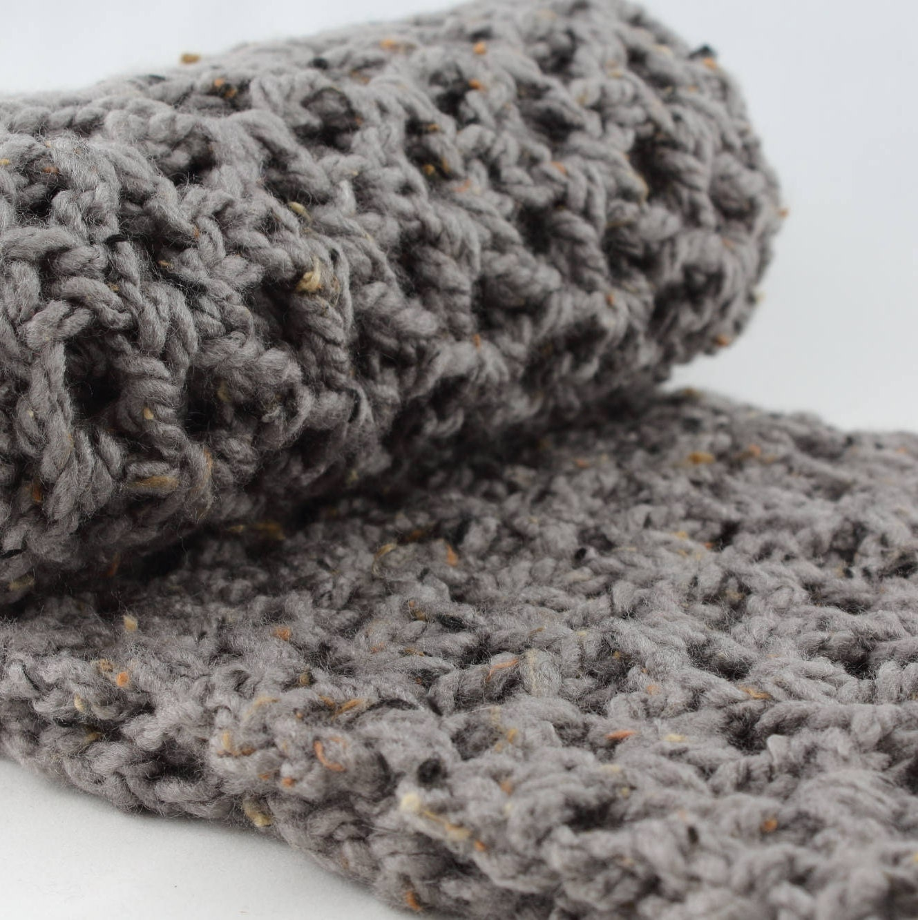 Fall Gift for Her, Grey Scarf, Tweed Scarf, Oversized Infinity Scarf ...