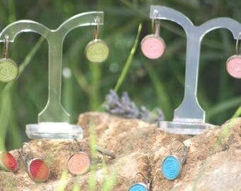 """""""Spin atomize"""" earrings"""