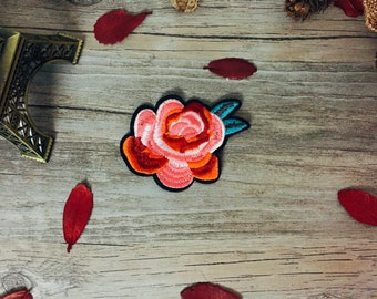 peony patch -rose patch-iron on patch -flower patch-embroidered patch-diy-applique-gorgeous