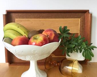 Milk Glass Fruit Bowl, Pedestal Fruit Bowl, White Bowl, Milk Glass Pedestal Bowl, Milk Glass Bowl, Fruit Bowl, Vintage Bowl,White Fruit Bowl