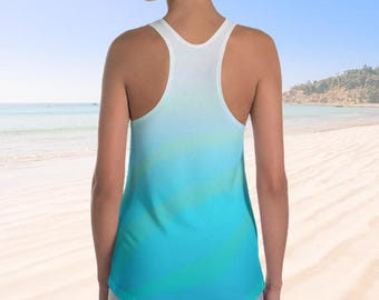 Women's Racerback Tank Top ~ Sun Sea and Surf inspired Vivacious collection by designer Marilyn Rose