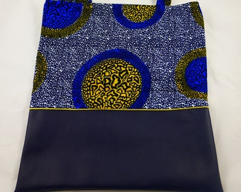 Bag tote bag in wax and leatherette